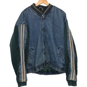 Vintage Varsity Jacket Quilt Lined Unisex Size XL
